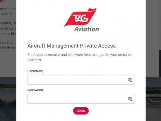 Fenêtre d'authentification pour l'accès privé
