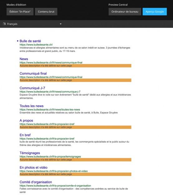 Outil de prévisualisation des résultats de recherche Google
