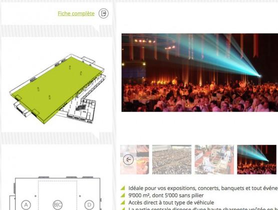 Forum Fribourg - Détail d'une salle