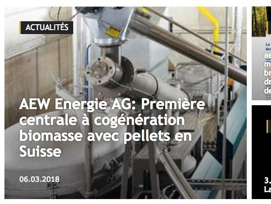 Energie-bois Suisse - Actualités
